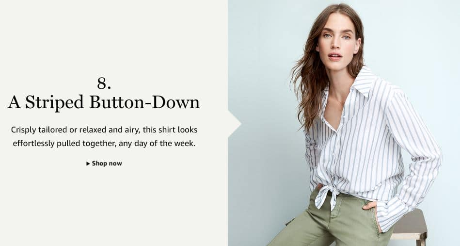 A Striped Button Down