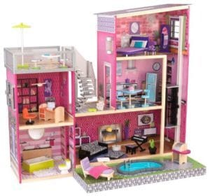 The KidKraft Girl's Uptown Dollhouse with Furniture