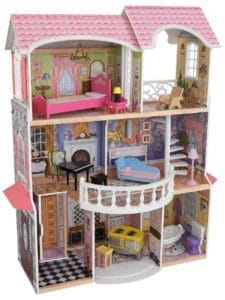13 pieces of furniture and the KidKraft Magnolia Mansion Dollhouse