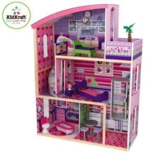 Kidkraft Wooden Modern Glitter Barbie Dreamhouse which fits for kids