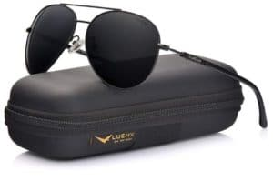 LUENX Aviator Polarized Women Sunglasses