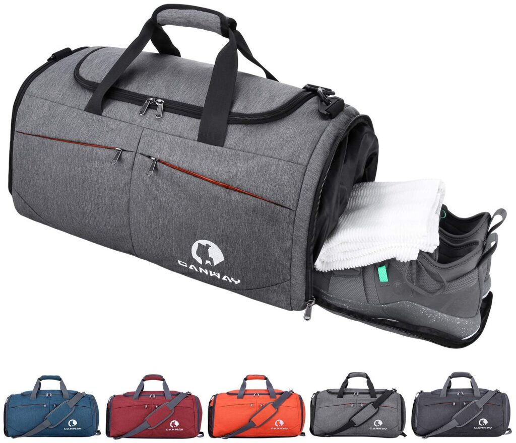 Canway Sports Gym Travel bag with Shoes Compartment for women