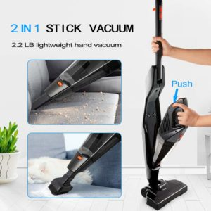 Cordless, Hikeren Stick and 12KPa Lightweight 2 in 1 Stick Handheld Vacuum Cleaner