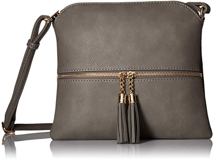DELUXITY- Lightweight Medium Crossbody Bag with Tassel