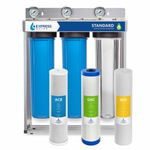 Express Water Whole House Water Filter, 3 Stage Home Water Filtration System-Sediment, Charcoal, Carbon