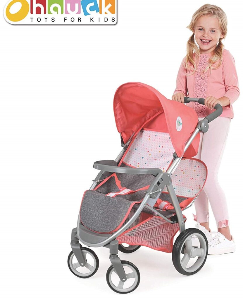 Hauck Twin Doll Stroller Play Set For Kids Play