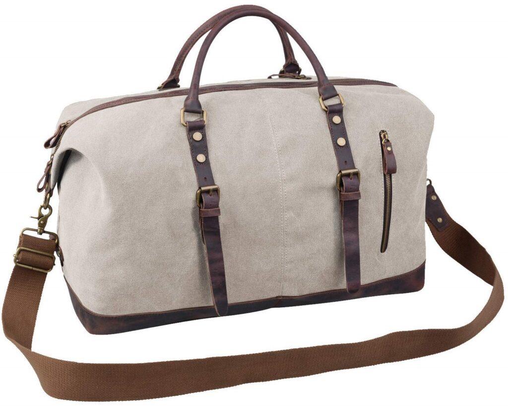 Jack & Chris Oversized Canvas Leather Travel Shoulder Handbag