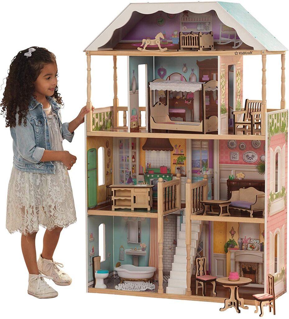 KidKraft Charlotte Dollhouse with Ez Kraft Assembly Dollhouses