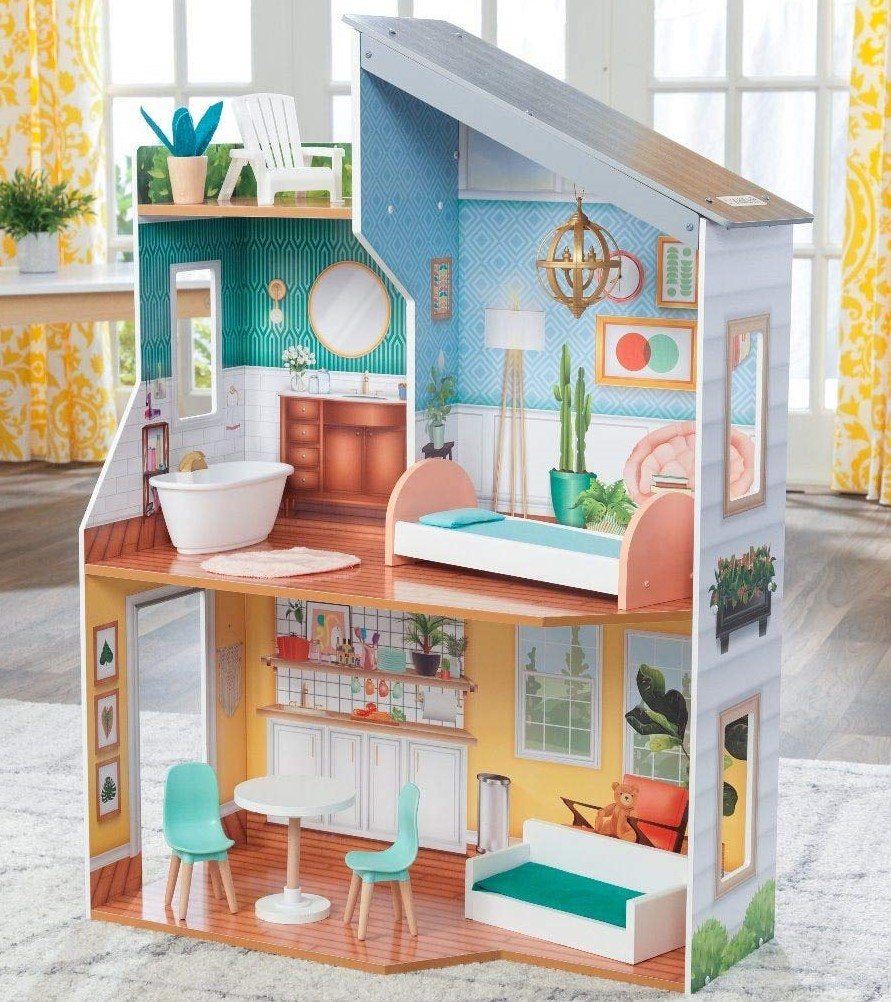 KidKraft Emily Wooden Dollhouse with Furniture