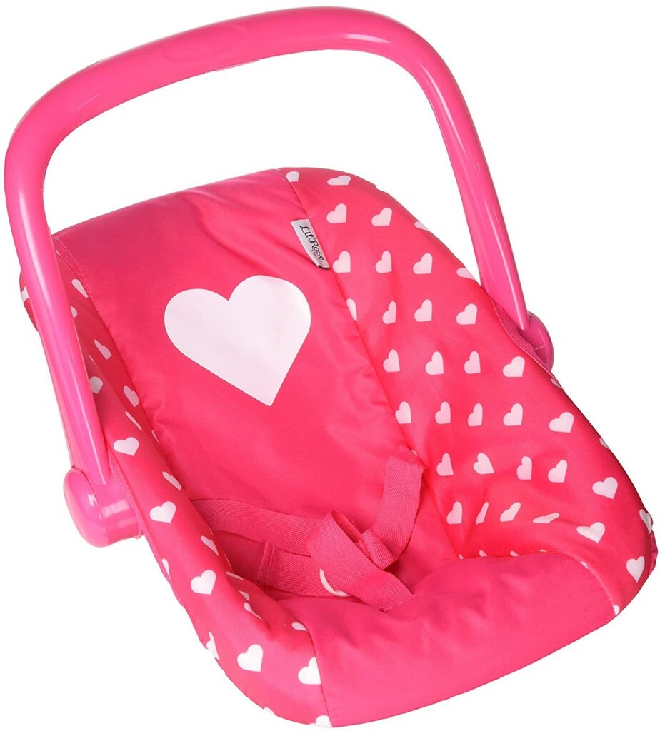Little Rose Baby Doll Car Seat Adjustable Carrier