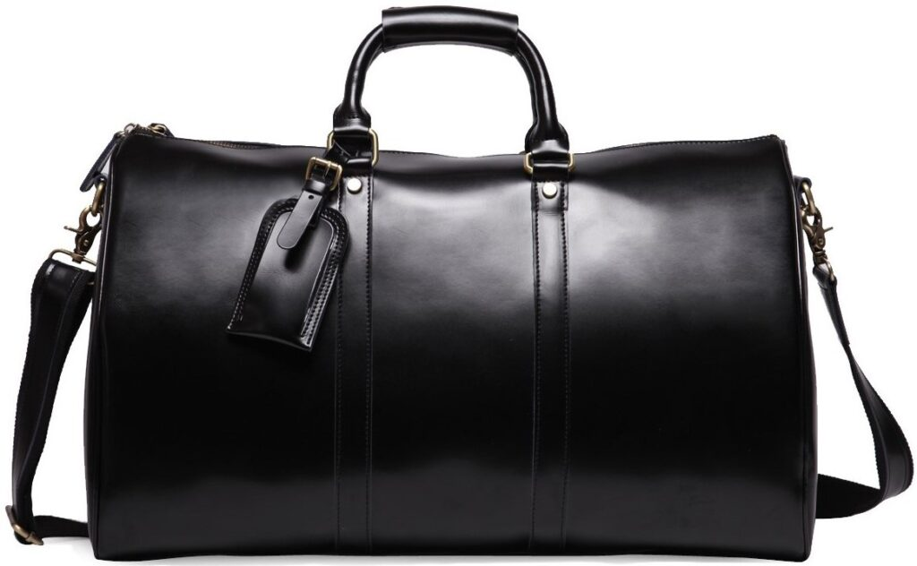 Lothario Men's Genuine Leather Overnight Travel Duffle Overnight Weekender Bag