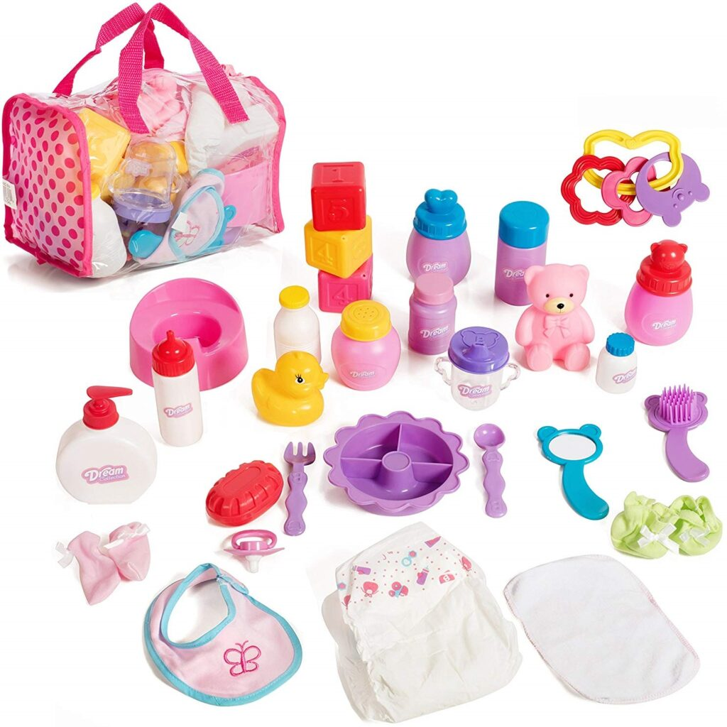 Mommy & Me Baby Doll Care Set with 30 Accessories