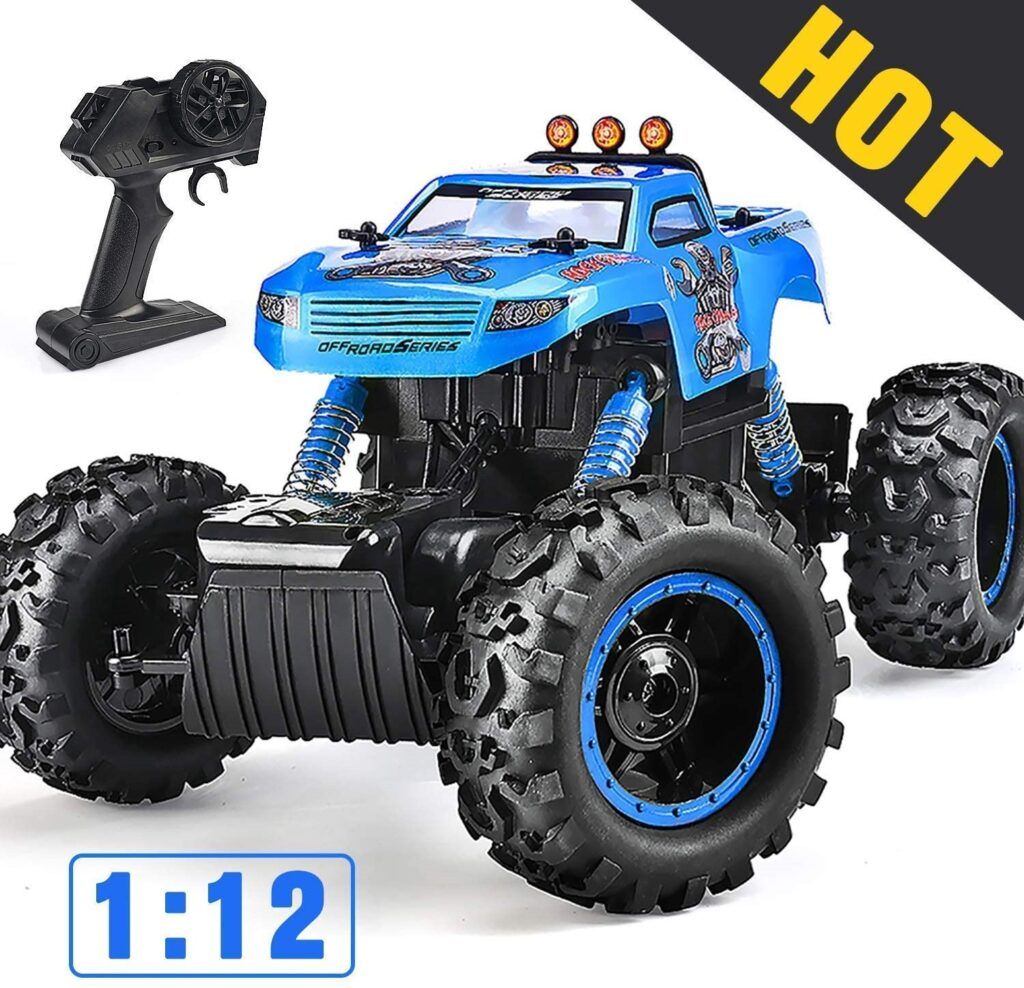 NQD Monster 1 12 Scale & 2.4Ghz with 4WD High-Speed Racing Terrain Climbing RC Car