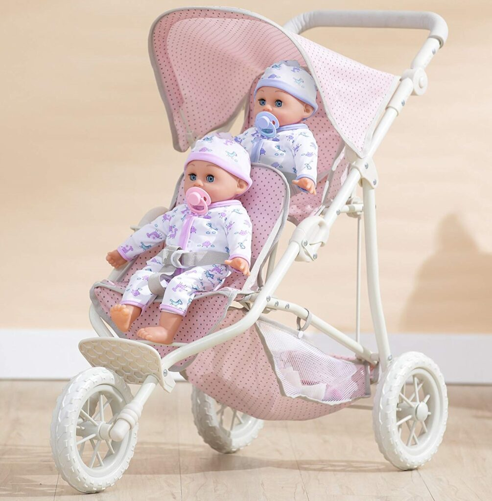 Olivia's Little World 16 Baby Doll Twin Stroller