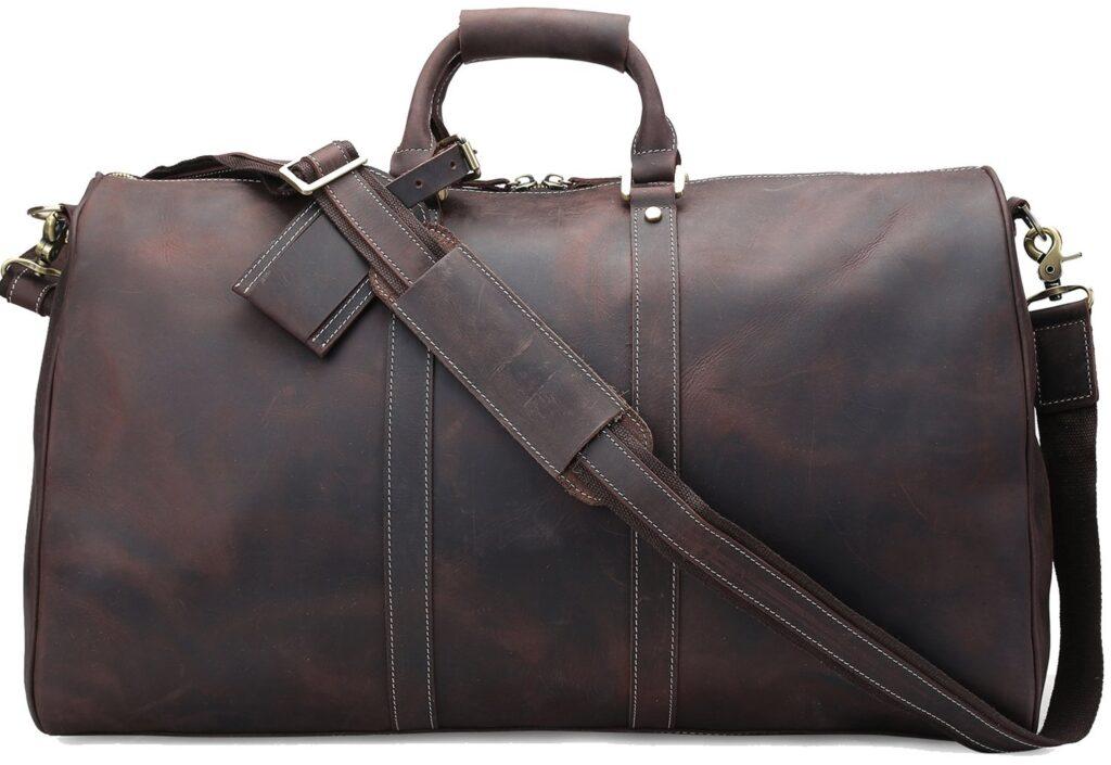 Polare Ambassador Style Retro Weekender Leather Bag