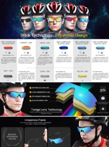 Torege Polarized Sports Sunglasses- Perfect Cycling (For Men & Women Both)