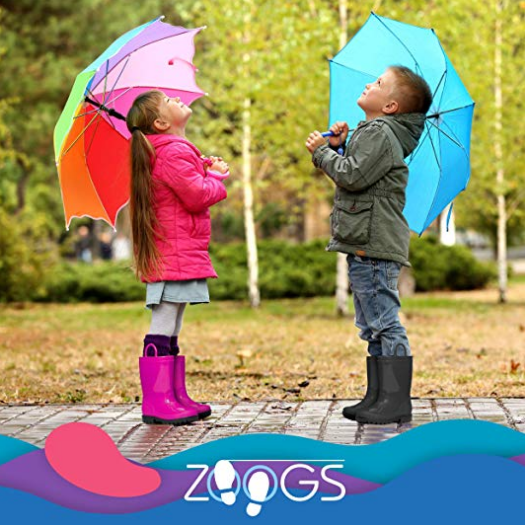 ZOOGS Kids Waterproof Rain Boots for Girls and Boys