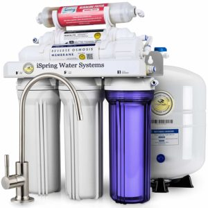 iSpring Stage Superb Taste High Capacity Under Sink Reverse Osmosis Drinking Water Filter System